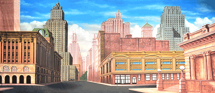 42nd Street Backdrop Projections
