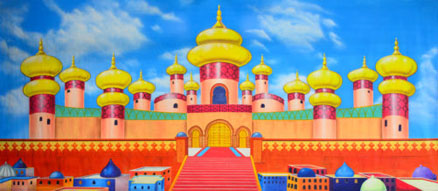 Aladdin Backdrop Projections