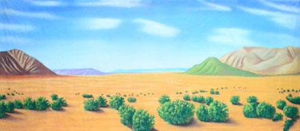 Desert Backdrop Projections