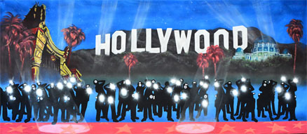 Hollywood Backdrop Projections