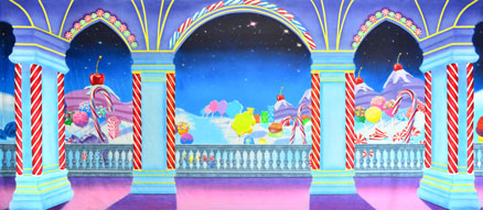 Land of the Sweets Backdrop Projections