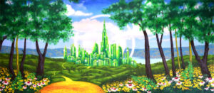 Wizard-of-Oz-projected-backdrop-image