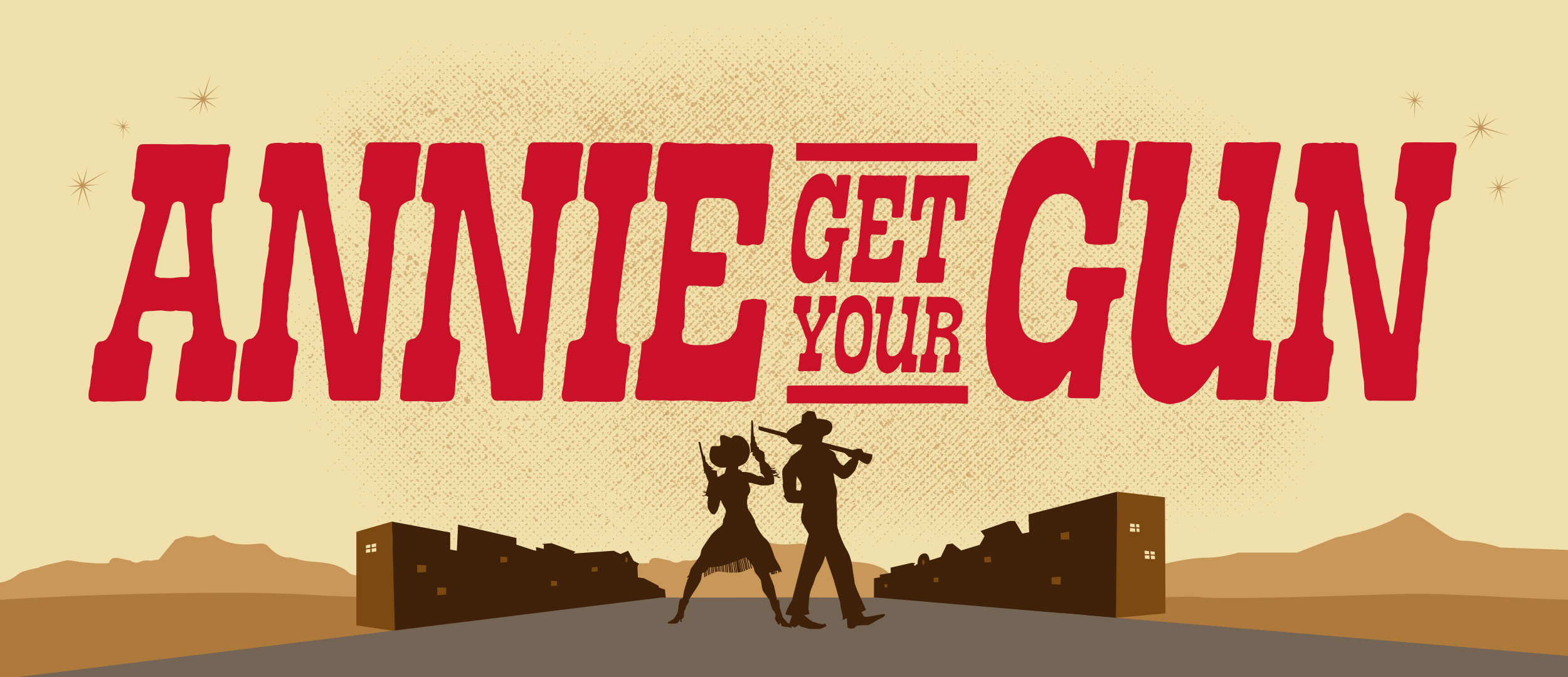 Annie Get Your Gun Show Package Projected Backdrop for Annie Get Your Gun, Show, Theater, Western