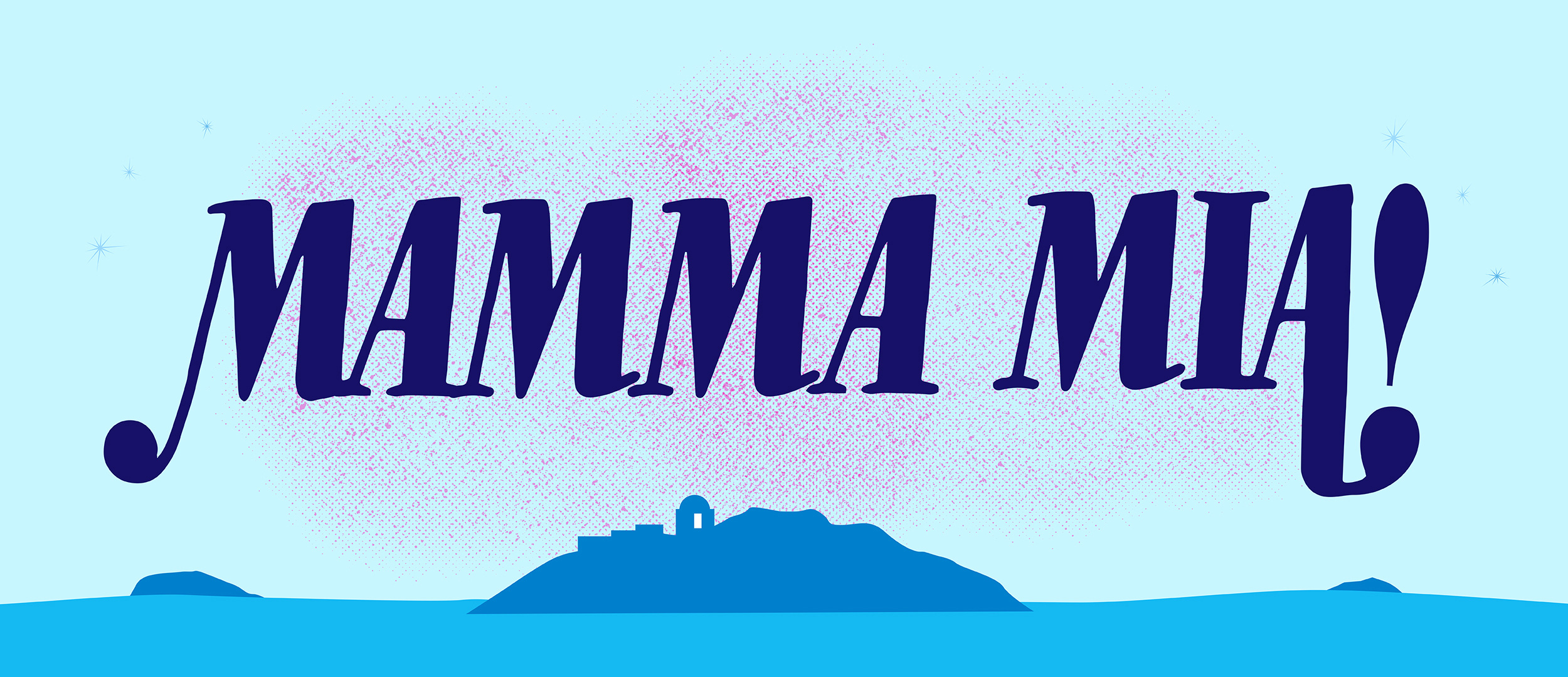 Mamma Mia Show Package Projected Backdrop for Beach/Tropical, Landscapes, Mamma Mia, Show, Theater