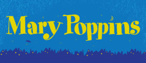 Mary Poppins projected backdrop