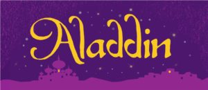 Aladdin Show Curtain projected backdrop