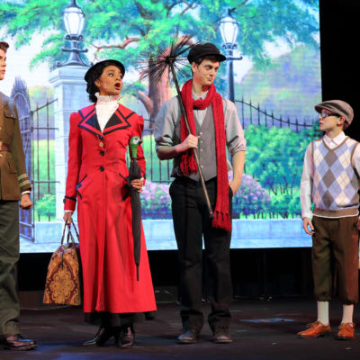 Digital projected backdrop for Mary Poppins