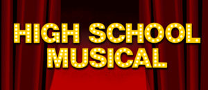 High School Musical Backdrop projection