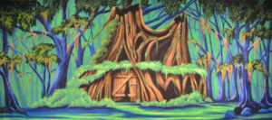 Shrek-projected-backdrop-image